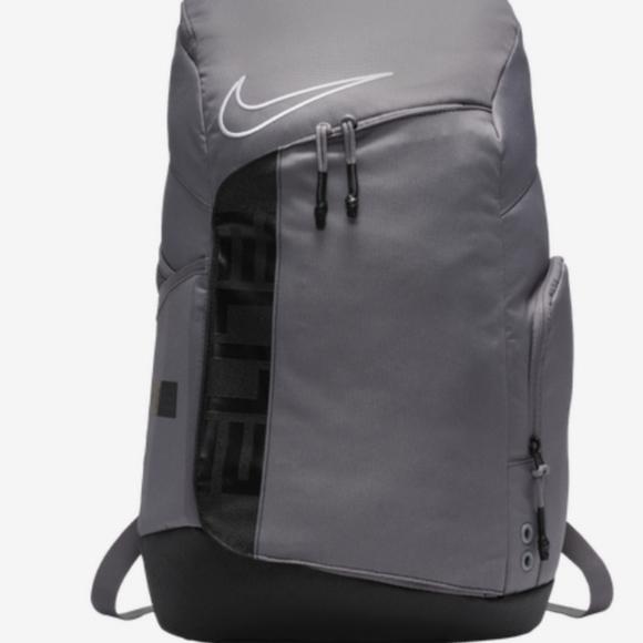 Nike Elite Pro Basketball Backpack Gray/Black